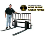 Construction Attachments Wide Frame Pallet Forks