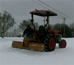 How to Snow Removal | Tractor Rear Scrape Blade