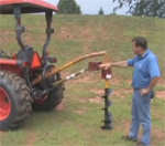 How to Use a PTO post hole digger