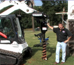 How to use a hydraulic skid steer auger