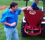 Agrex Fertilizer Spreader in Action