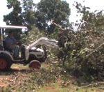 How To Use A Root Grapple On A Compact Utility Tractor For Brush Removal
