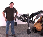 Bradco Hardscape Grapple for Mini Skid Steer